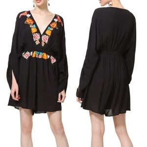 NWT Desigual Black Embroidered Romper Soraya